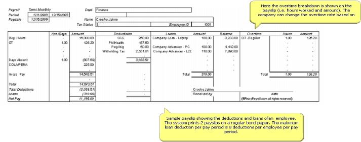 Sample Pay Slip